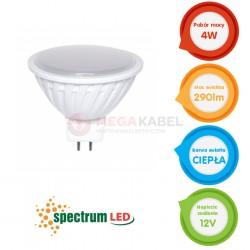 Żarówka LED MR16 4W 12V SMD2835 b.ciepła Spectrum