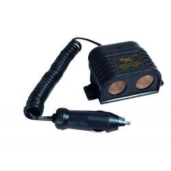 Rozgałęźnik zapaliniczki 1/2gn 12V/5A kabel 002103