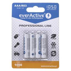 Akumulatorki AAA 1000mAh EVHRL03 4 sztuki EverActive