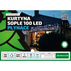 Kurtyna sople LED-100/G/S/8F zimna 4,75m 8 FUNKCJI zewnętrzne OKEJ LUX