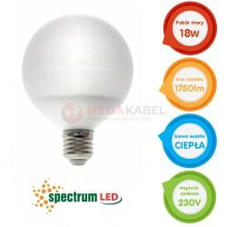 Żarówka LED GLOB G120 18W 230V E27 WW ciepła Spect