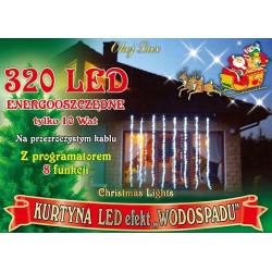Lampki kurtyna LT-320/K/8F zimne wodospad 8 funkcji zewnętrzne OKEJ LUX