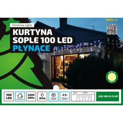 Kurtyna sople LED100/G/S/8F ciepła 4,75m 8 FUNKCJI zewnętrzna OKEJ LUX