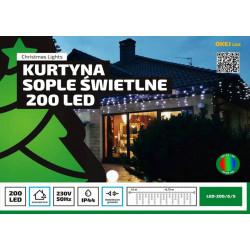 Kurtyna sople LED200/G/S multikolor zew. 8,75m