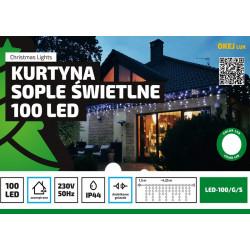 Kurtyna sople LED-100/G/S zimna zewnętrzna 4,25m OKEJ LUX