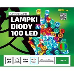 Lampki choinkowe LED L-100/G RGB wewnętrzne 4,95m OKEJ LUX