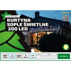Kurtyna sople LED-200/G/S ciepła zewnętrzne 8,75m OKEJ LUX