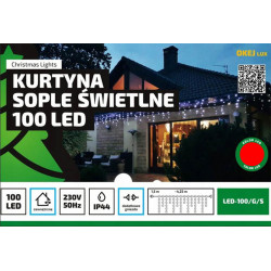 Kurtyna sople LED100/G/S czerwona zewnętrzna 4,25m OKEJ LUX