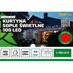 Kurtyna sople LED-100/G/S czerwona wewnętrzna OKEJ LUX