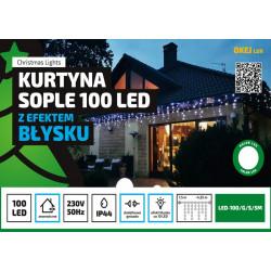 Kurtyna sople LED100/G/S/5M zimna zewnętrzne 4,25m FLASH OKEJ LUX