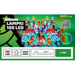 Lampki choinkowe LED L-100/G multikolor wewnętrzne 4,95m OKEJ LUX