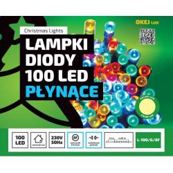 Lampki choinkowe LED100/8F ciepła 6m wewnętrzne 8 funkcji OKEJ LUX