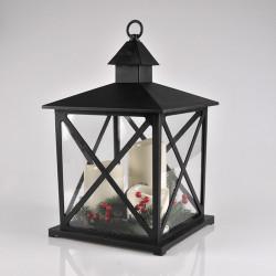 Latarenka dekoracyjna LED czarna 312792 3-świece 3xAAA POLUX