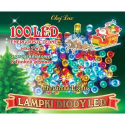 Lampki choinkowe LED L-100/8F/M multikolor Okej