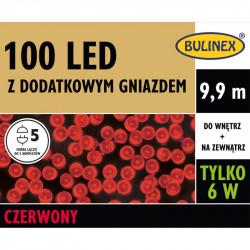 Lampki choinkowe LED100 czerwone 9,9m 13-103 IP44 Bulinex