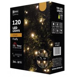 Lampki choinkowe świetliki XMAS vintage 120LED 12m timer ZY1907T IP44 EMOS