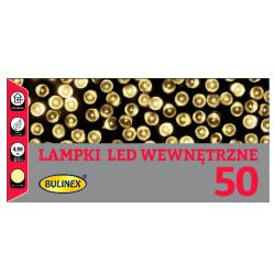 Lampki choinkowe LED 50 wewnętrzne ciepłe 4,9m 20-028 Bulinex