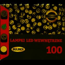 Lampki choinkowe LED 100L wewnętrzne + gniazdo ciepły 5m Bulinex