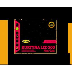 Lampki choinkowe kurtyna 200LED flash 4x1m zimne wewnętrzne Bulinex