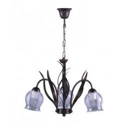 Lampa sufitowa MUSERO K-3380 III brąz brokat Kaja