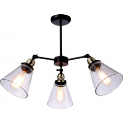 Lampa wiszęca K-8037B-3 black/antique E27 Kaja