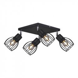 Lampa plafon MIKA K-4567 IV black E27 Kaja
