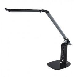 Lampka biurkowa LED/zegar K-BL1230 czarny Kaja