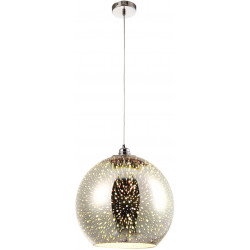 Lampa kula 3D K-8003-30 CHR zwis E27 60W Kaja