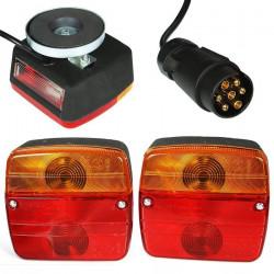 Zestaw lamp tylnych do przyczepienia + wiązka 12V-24V INTERLOOK