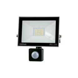 Naświetlacz LED KROMA 20W +PIR 6500K grey 03705