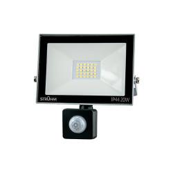 Naświetlacz LED KROMA 20W +PIR 4500K grey 03605