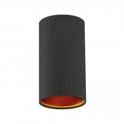 Lampa tuba CHLOE czarna złote oczko GU10 Spectrum