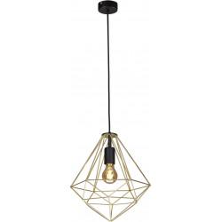 Lampa wisząca GOLD K-4810 czarna złota E27 Kaja