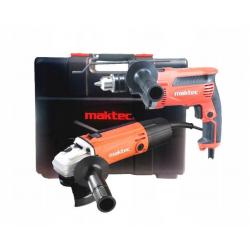 Zestaw MAKTEC MT814+MT963 wiertarka+szlifierka+walizka
