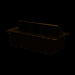 Gniazdo meblowe wpuszczane w blat z płaskim frezowanym rantem, 3x2P+Z, srebrne Orno