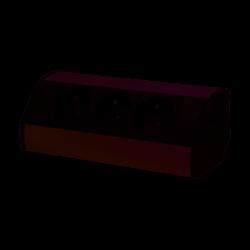 Gniazdo meblowe 3x2P+Z, czarno-srebrne Orno