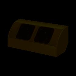 Gniazdo meblowe 2x bez wyłącznika 230V OR-AE-1303