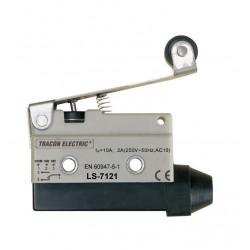 Wyłącznik krańcowy z dźwignią sprężynową i rolką LS7121 TRACON
