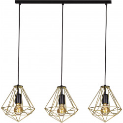 Lampa wisząca GOLD K-4812 mosiąd/czarny 3xE27 Kaja