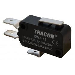 Wyłącznik krańcowy mikro z dźwignią sprężynową KW3-11 TRACON