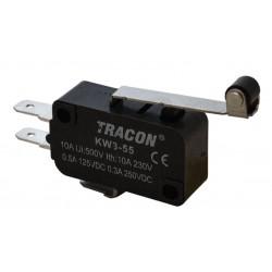 Wyłącznik krańcowy mikro z dźwignią i rolką KW3-51 TRACON