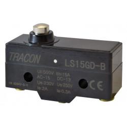 Wyłącznik krańcowy krótki trzpień LS15GD-B 15A/250 TRACON
