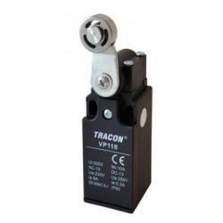 Wyłącznik krańcowy z dźwignią i rolką 6A/250V IP65 VP118 TRACON