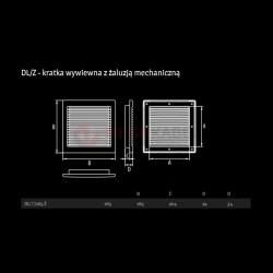 Kratka wentylacyjna z żaluzją DL/165 Ż Dospel