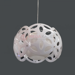 Lampa BONA-W biała wisząca E27 60W Vitalux