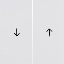 Kwadrat klawisz podwójny symbol strzałka biały 5316258999 BERKER