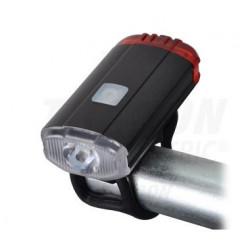 Latarka rowerowa LED 3,7V przód-tył TRACON