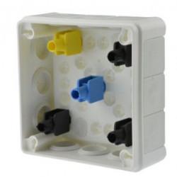 Puszka biała n/t 98x98x42 z gum. z zacisk. 041-51