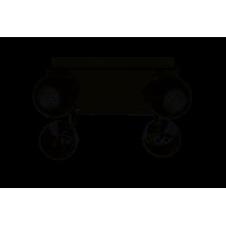 Lampa sufitowa plafon MATT-4R B/CH czarny chrome GU10 4x50W Vitalux