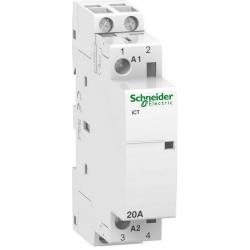 Stycznik modułowy 20A 2z/0r 230V AC iCT Schneider